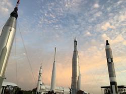 Rocket Garden at Sunrise