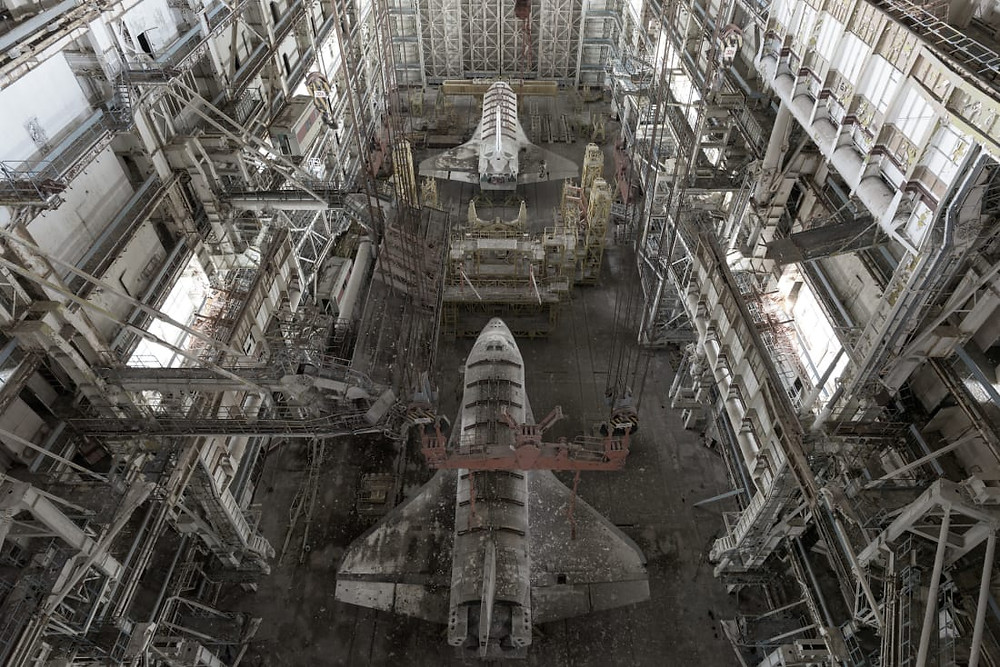 Soviet spaceplanes in hangar
