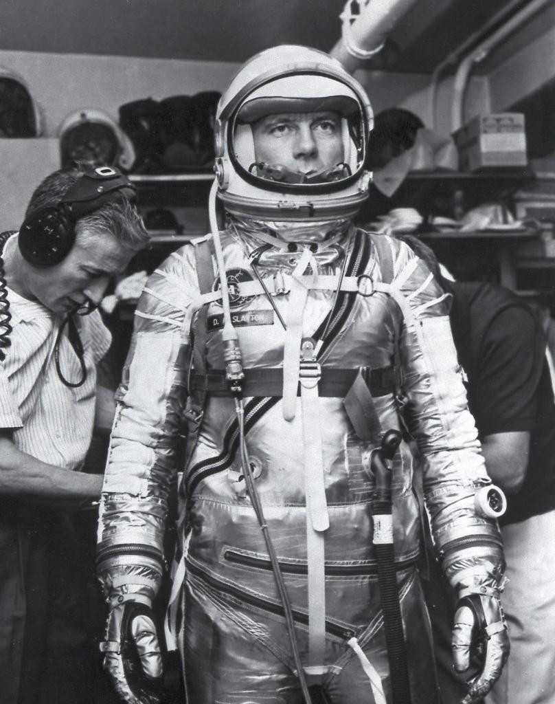 Astronaut Deke Slayton in his Mercury spacesuit