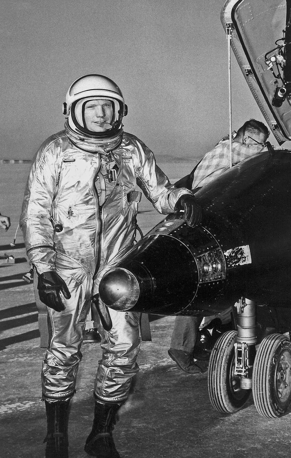 Astronaut Neil Armstrong as an X-15 pilot before becoming a NASA astronaut