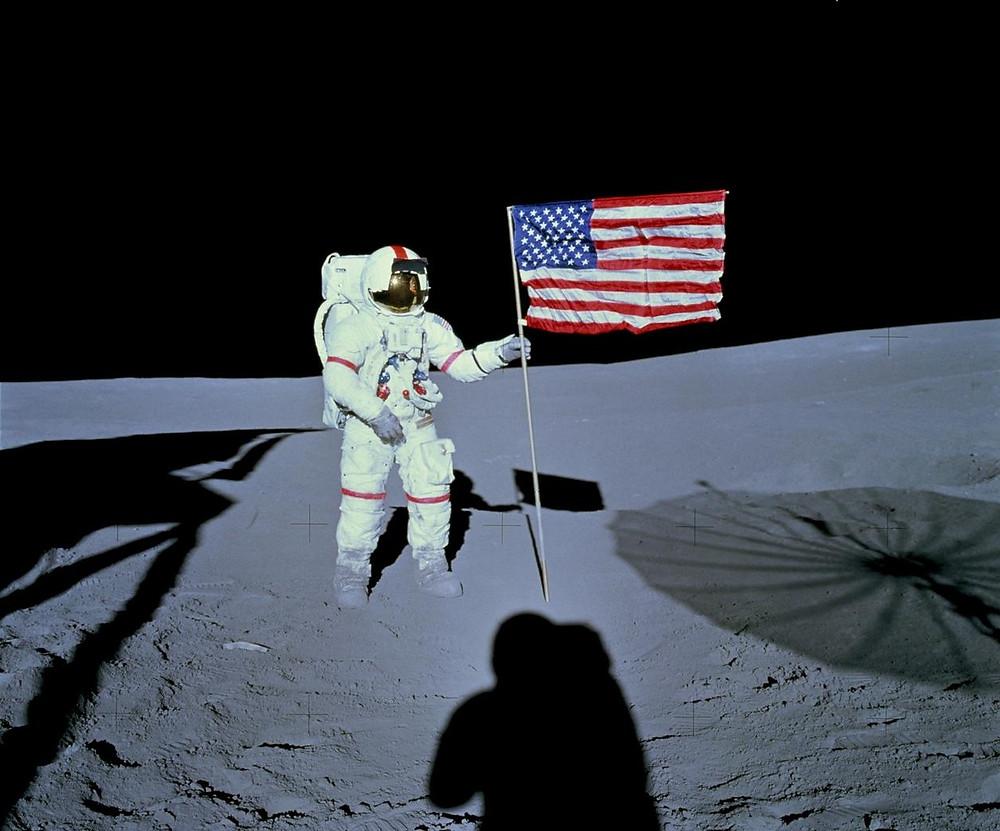 Astronaut Alan Shepard on the lunar surface