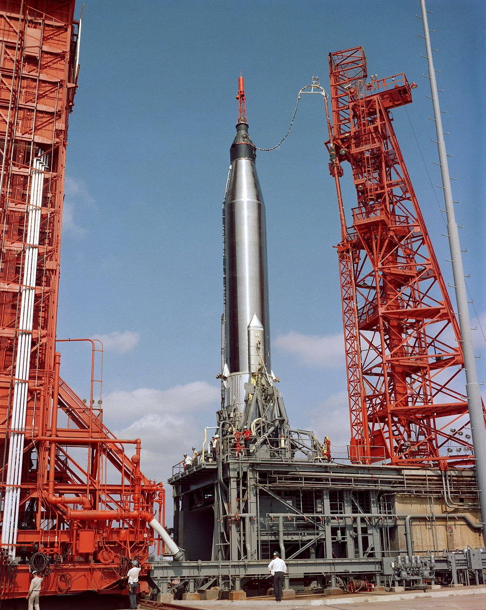 Mercury-Atlas 9 on the launch pad