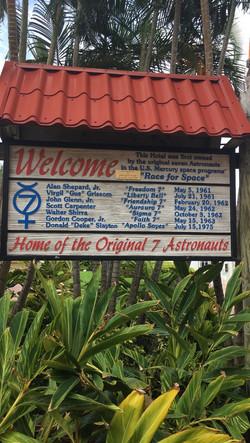 Mercury 7 Sign at La Quinta