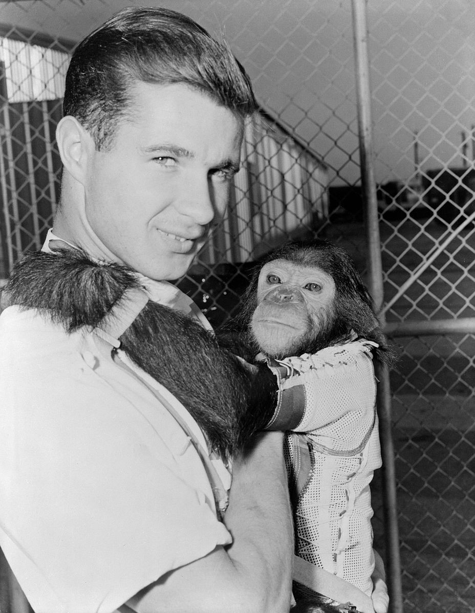 Enos and his handler
