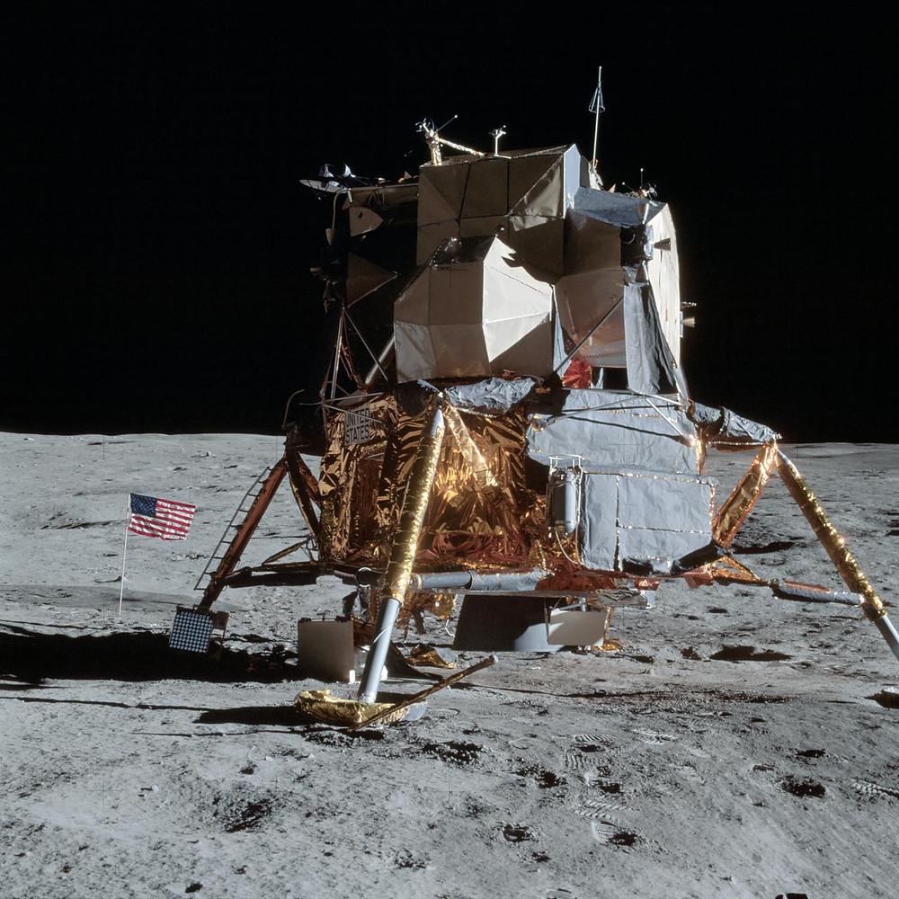 Apollo 14 lunar module Antares on the moon
