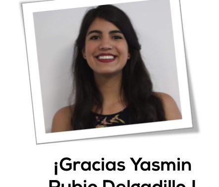 ¡Gracias Yasmin Rubio!