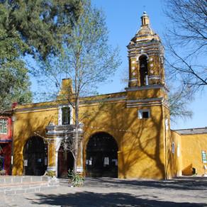 La iglesia de Santa Catarina en Coyoacán (siglo XIV-XVI).