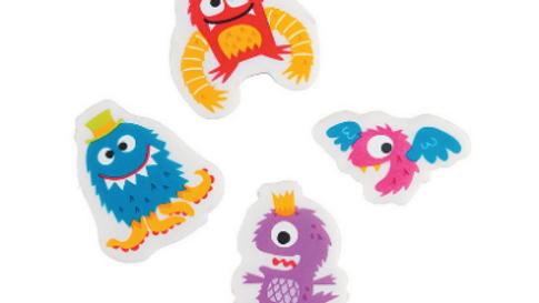 Little Monster Erasers 3pk