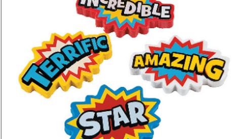 Super Hero Eraser (3pk)