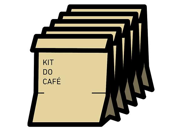 Cinco Kits Café dos Amigos