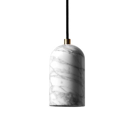 U - White marble