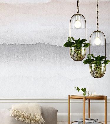 Brass Plant Pendant Light