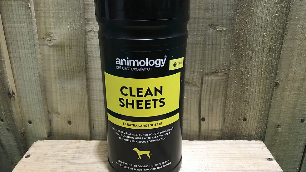 Animology Clean Sheets Extra Large Dog Wipes 80 Pack