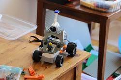 Robot voiture, anniversaire Yohan, 7 ans