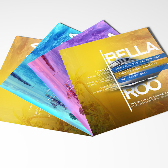 Cruise Flyers for Print & Social Media