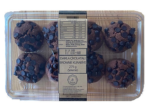 Damla Çikolatalı Brownie Kurabiye-275g