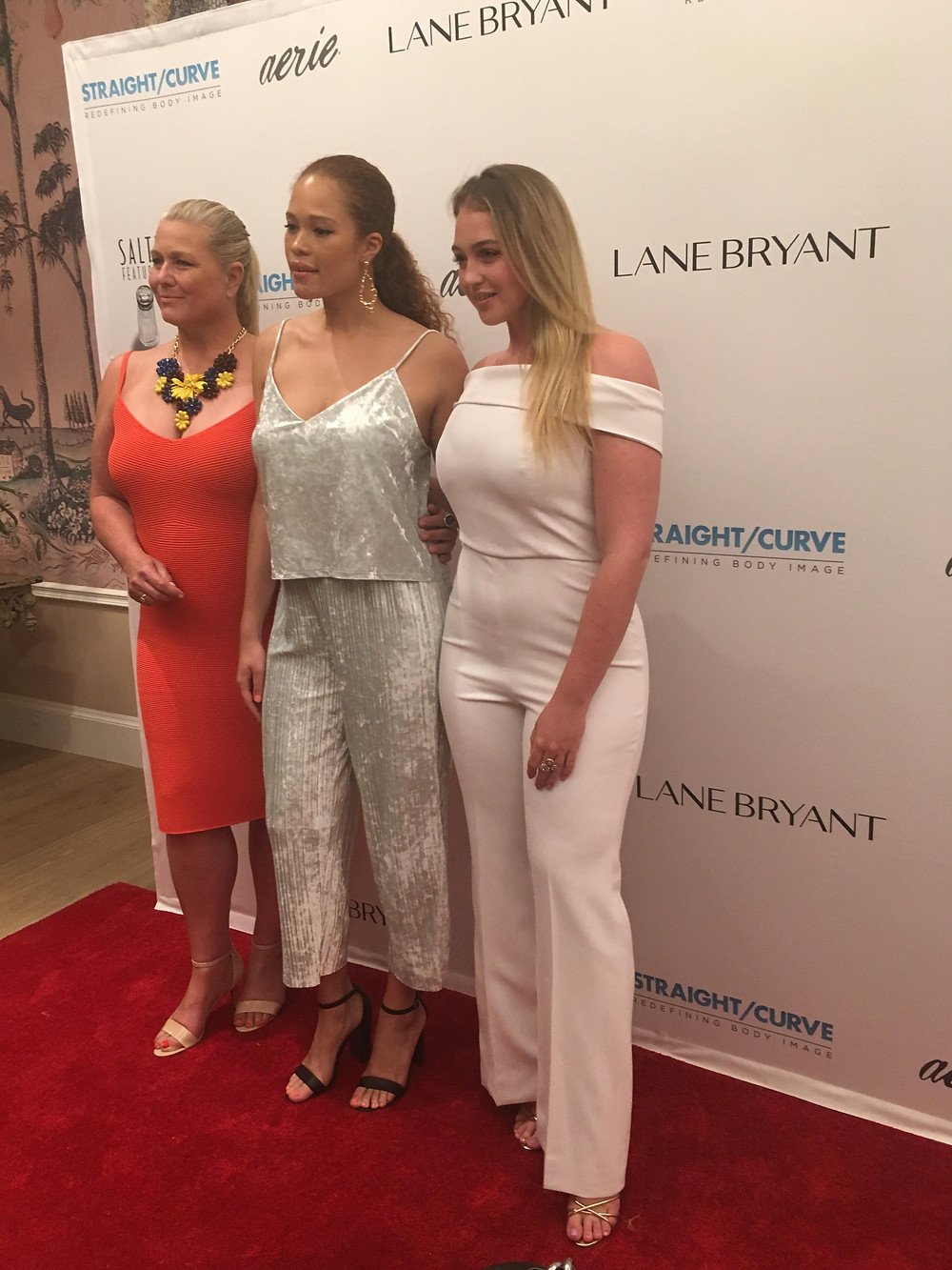 Emme, Sabina Karlsson and Iskra Lawrence at Straight/Curve premiere.