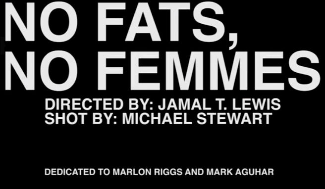 """No Fats, No Femmes"" Addresses Bias in Gay Community"