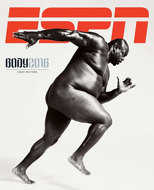 """Texans' Vince Wilfork Covers ESPN Mag's """"Body Issue"""""""