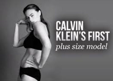 "Old Calvin Klein Photo Sparks New Debate in U.K. Over ""Plus Size"""