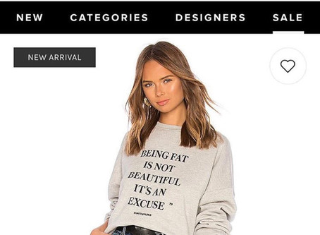 Revolve Misfires with Fat-Shaming Shirt
