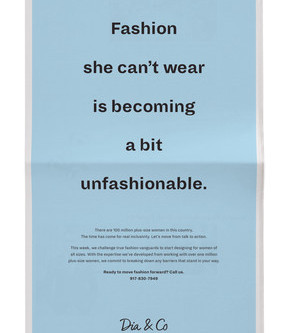 Dia & Co. Calls Out Fashion Industry in Ad