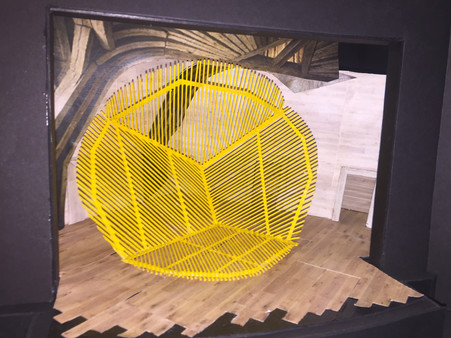 Model from 2D image of Georges Rousse's 2011 Construction/Deconstruction installation