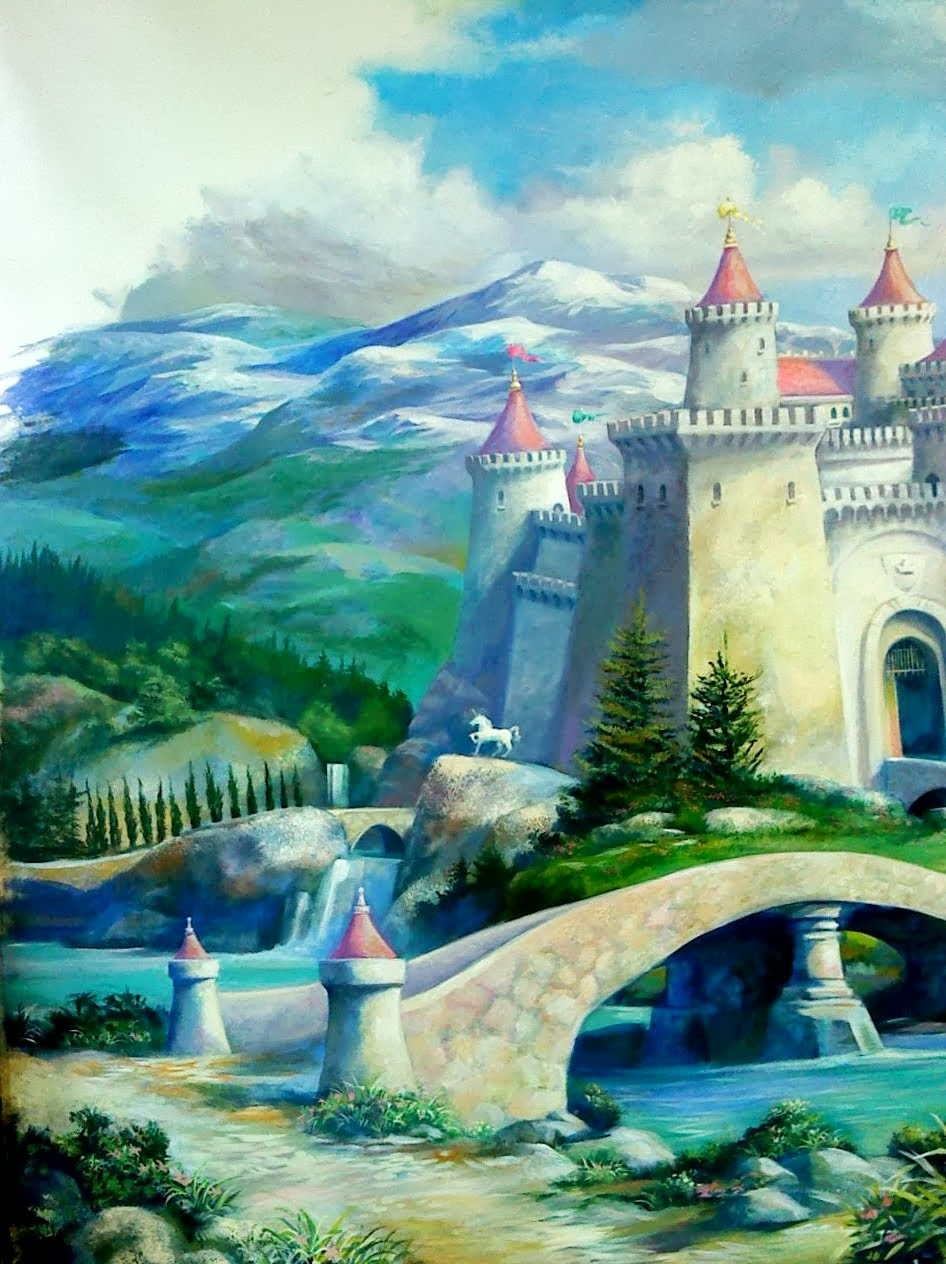 CASTLE MURAL- girls room
