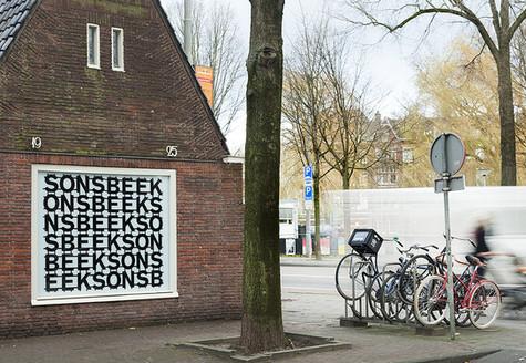 Sonsbeek window advertising