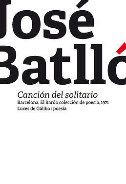 32_Batlló_Canción_del_solitario_PORTADA.
