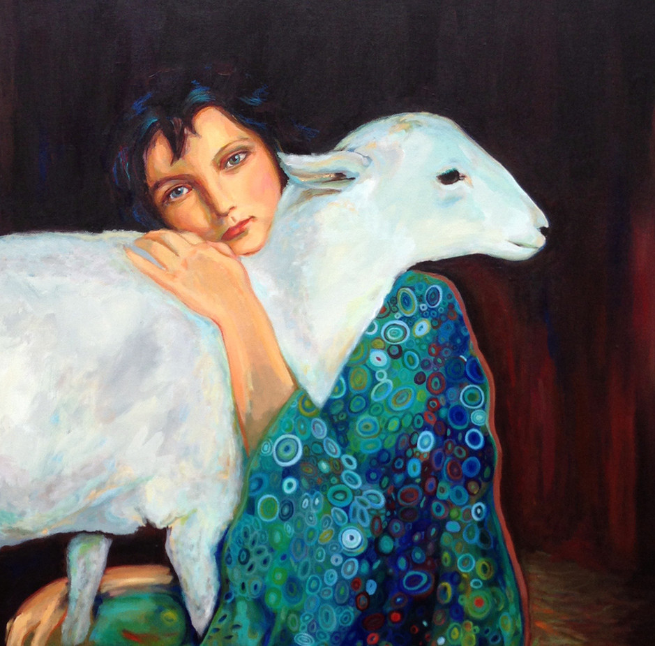 Klimt's child and lamb