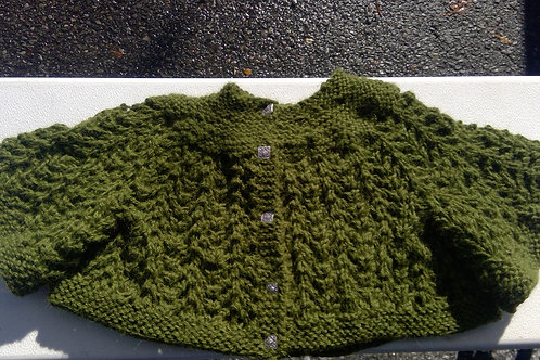 Heirloom Baby Sweater - Olive