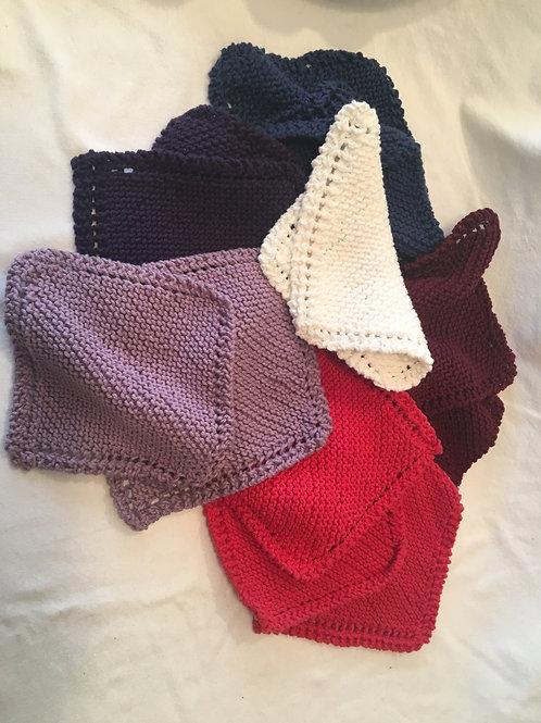 Handknit 100% Cotton Washclothes