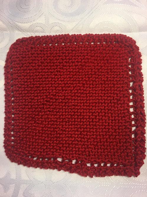 Washcloth - Dark Red