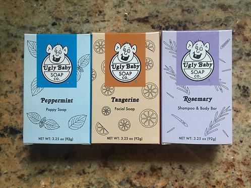 Organic Vegan Bar Soap 3-Pack