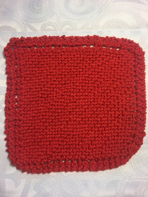 Washcloth - Light Red