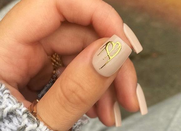 The Gold Graffiti Heart Set