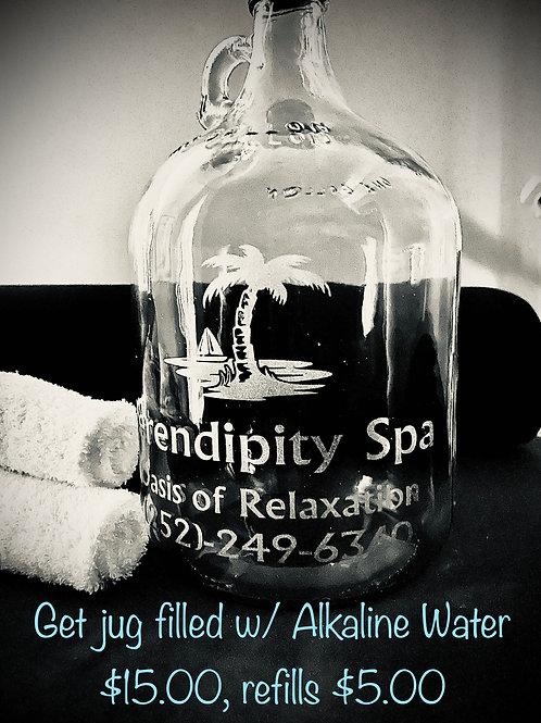 Alkaline Water - 1 gallon glass jug