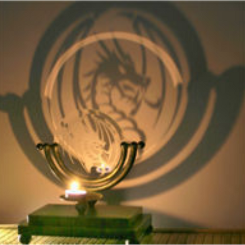 Dragon Projection Candle Holder