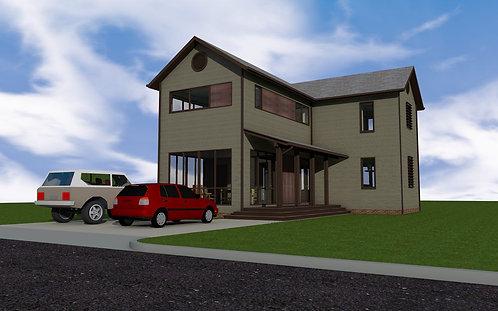 1,695 SF Modern Farmhouse - 3BR, 2.5Ba