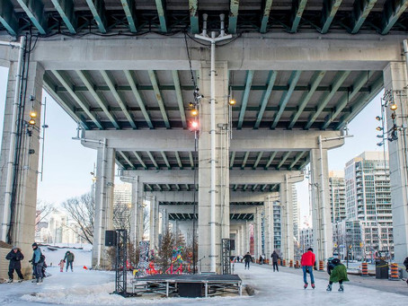 Toronto's new skating trail under the Gardiner is magical