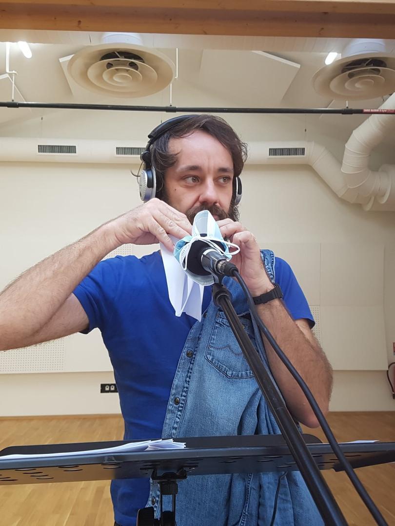 Enregistrement des bulles sonores au Hangar Théâtre de l'Ensad Montpellier