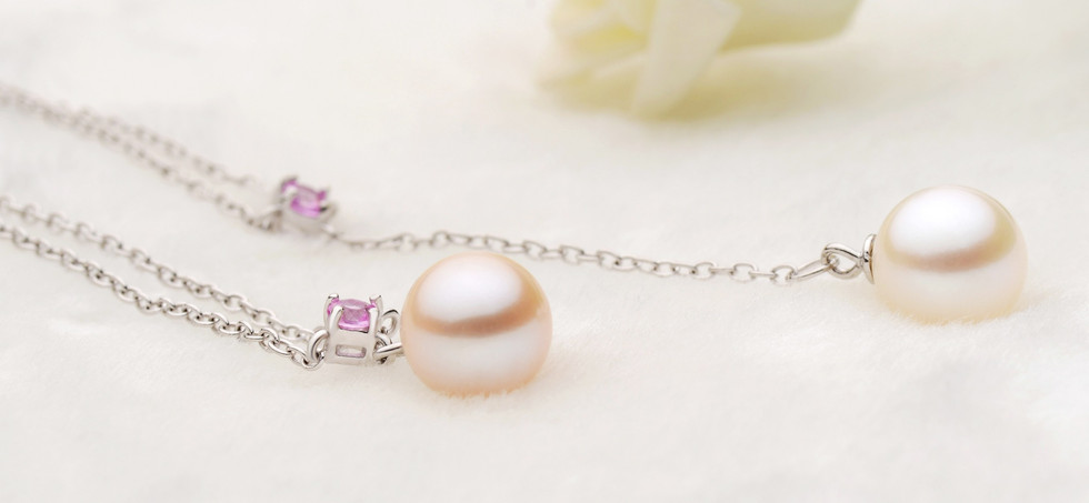 Pink Sapphire and Pearl