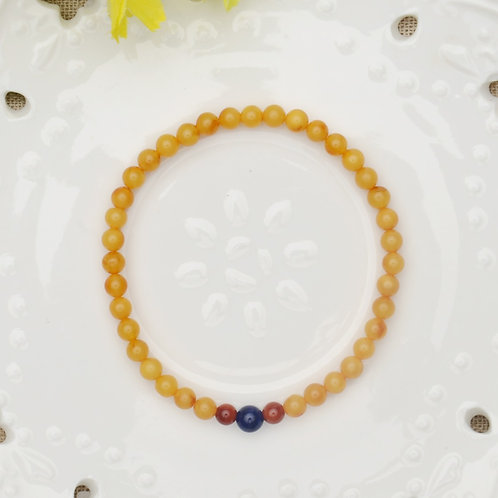 copy of Amber and Turquoise Buddha Prayer Beads Bracelet featured with Agate On
