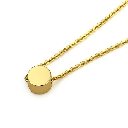 """18K Yellow Gold Tiny Clavicle  Necklace 16"""""""