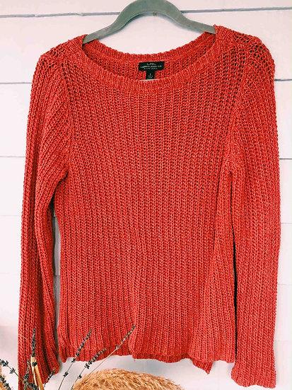 Red Cotton Knit Sweater (Ralph Lauren)