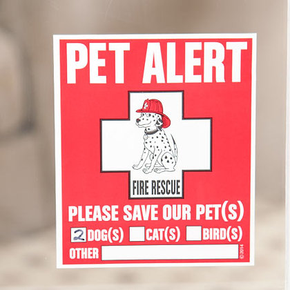 Pet Alert Window Cling (2 Pack)