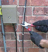 Exposed home phone lines are vulnerable to burglars.