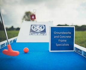 Branded mini golf course