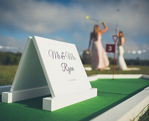 Wedding mini golf